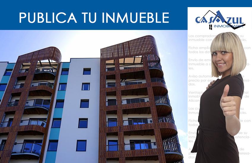 Publica tu inmueble con casAzul inmobiliaria.